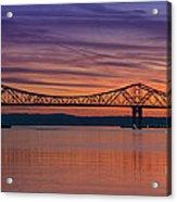 Tappan Zee Bridge Sunset Acrylic Print