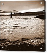 Tappan Zee Bridge X Acrylic Print