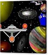 Tardis Trek Acrylic Print
