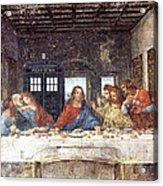 Tardis V Leonardo Da Vinci Acrylic Print