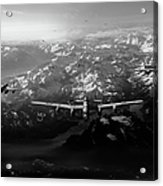 Target Tirpitz In Sight Black And White Version Acrylic Print