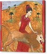 Tarot 11 Strength Acrylic Print