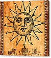 Tarot Card The Sun Acrylic Print by Cinema Photography