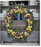 Tarpley Thompson Store Wreath Acrylic Print