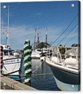 Tarpon Springs Fishing Boats  Acrylic Print