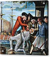 Tarring & Feathering, 1773 Acrylic Print
