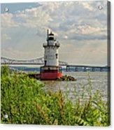 Tarrytown Lighthouse And The Tappan Zee Bridge Acrylic Print