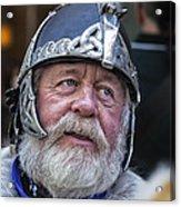 Tartan Day Parade Nyc 2013 Shetland Isle Celtic Warrior Armor Acrylic Print