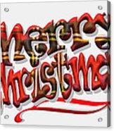 Tartan Merry Christmas Acrylic Print