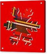 Tartan Snowflake On Red Acrylic Print