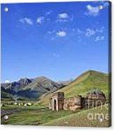 Tash Rabat Caravanserai In The Tash Rabat Valley Of Kyrgyzstan  Acrylic Print