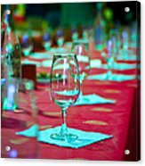 Tasting In Red Acrylic Print