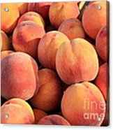 Tasty Peaches Acrylic Print by Carol Groenen