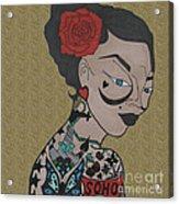 Tattoo Chic Sand Acrylic Print