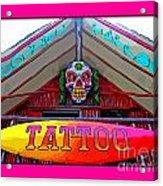 Tattoo Sign Digital Acrylic Print