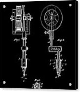 Tattooing Machine 3 Patent Art 1891 Acrylic Print by Daniel Hagerman