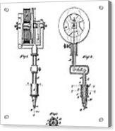 Tattooing Machine Patent Art  1891 Acrylic Print