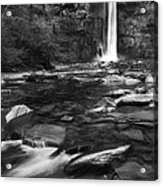Taughannock Black And White Acrylic Print