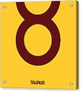 Taurus Zodiac Sign Brown Acrylic Print