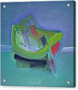 Tavira Fishing Boat Abandoned Acrylic Print