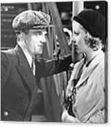 Taxi, From Left James Cagney, Loretta Acrylic Print