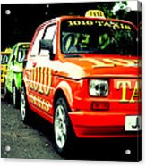 Taxi Line Acrylic Print
