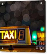 Taxi Signs Acrylic Print