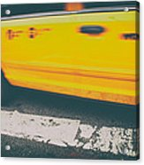 Taxi Taxi Acrylic Print by Karol Livote