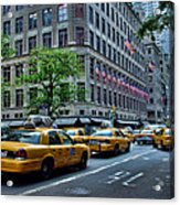 Taxicabs Of New York City Acrylic Print
