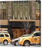 Taxis In The City Acrylic Print