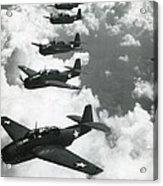 Tbf Torpedo Fighter Bombers Avengers Acrylic Print