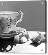 Tea And Roses Still Life Acrylic Print