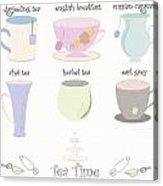 Tea Cup Collection Vector Acrylic Print