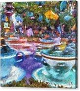 Tea Cup Ride Fantasyland Disneyland Pa 02 Acrylic Print