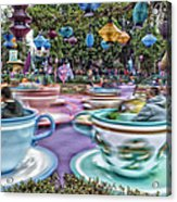 Tea Cup Ride Fantasyland Disneyland Acrylic Print by Thomas Woolworth