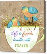 Tea Cup Wisdom Acrylic Print