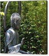 Tea Garden Buddha Acrylic Print