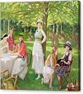 Tea In The Garden Acrylic Print