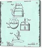 Tea Kettle Patent 1916 Acrylic Print
