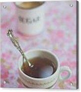 Tea Time In Pink Acrylic Print