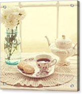 Tea Time Acrylic Print by Kay Pickens