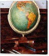 Teacher - Globe On Piano Acrylic Print