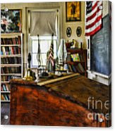 Teacher - Vintage Desk Acrylic Print