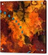 Teal Dots Acrylic Print