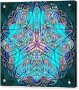 Teal Starfish Acrylic Print
