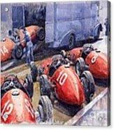 Team Ferrari 500 F2 1952 French Gp Acrylic Print by Yuriy  Shevchuk