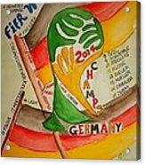 Team Germany Fifa Champions Acrylic Print