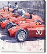 1956 Team Lancia Ferrari D50 Type C 1956 Italian Gp Acrylic Print
