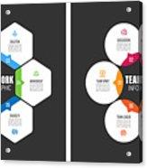 Teamwork Chart With Keywords Acrylic Print