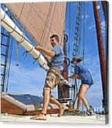 Teamwork On The Lake Acrylic Print